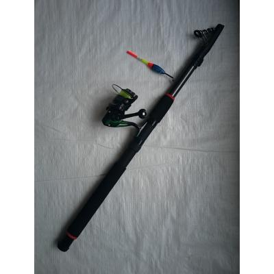 izvelkama makšķere ar spoli auklu pludiņu āķi 300cm