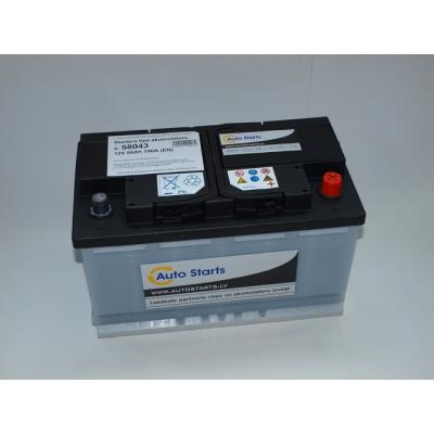 Autostarts akumulators 80 Ah 720 A 315x175x175